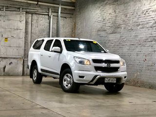 2014 Holden Colorado RG MY15 LS Crew Cab 4x2 White 6 Speed Sports Automatic Cab Chassis.
