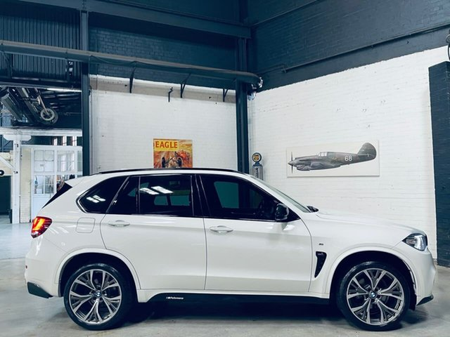 Used BMW X5 F15 xDrive30d Port Melbourne, 2016 BMW X5 F15 xDrive30d White 8 Speed Sports Automatic Wagon