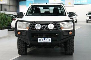 2017 Toyota Hilux GUN126R SR (4x4) Glacier White 6 Speed Manual Dual Cab Chassis