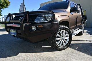 2011 Volkswagen Amarok 2H MY12 TDI400 Trendline (4x4) Brown 6 Speed Manual Dual Cab Chassis