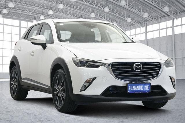 Used Mazda CX-3 DK2W7A Akari SKYACTIV-Drive Victoria Park, 2017 Mazda CX-3 DK2W7A Akari SKYACTIV-Drive Pearl White 6 Speed Sports Automatic Wagon