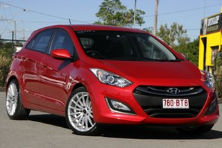 2014 Hyundai i30 GD2 Active Brilliant Red 6 Speed Sports Automatic Hatchback.