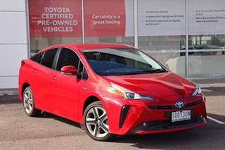 2019 Toyota Prius ZVW50R I-Tech Red 1 Speed Constant Variable Liftback Hybrid.