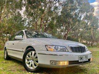 2004 Holden Statesman WL Heron White 4 Speed Automatic Sedan.