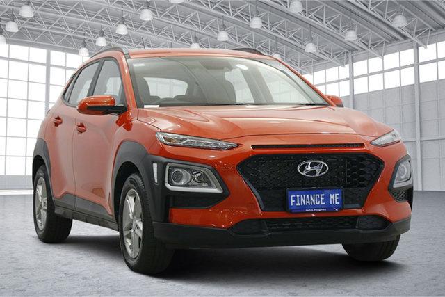 Used Hyundai Kona OS.3 MY20 Active 2WD Victoria Park, 2020 Hyundai Kona OS.3 MY20 Active 2WD Tangerine Comet 6 Speed Sports Automatic Wagon