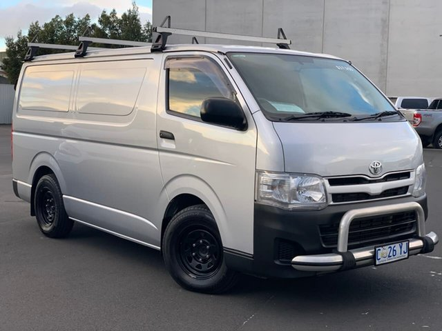 Used Toyota HiAce KDH201R MY12 LWB Moonah, 2012 Toyota HiAce KDH201R MY12 LWB Silver 5 Speed Manual Van