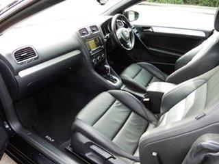2013 Volkswagen Golf VI MY14 118TSI DSG Black 7 Speed Sports Automatic Dual Clutch Cabriolet