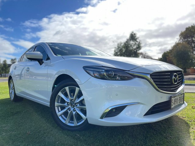 Used Mazda 6 GL1031 Touring SKYACTIV-Drive Hindmarsh, 2016 Mazda 6 GL1031 Touring SKYACTIV-Drive Snowflake White 6 Speed Sports Automatic Sedan