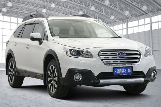 Used Subaru Outback B6A MY17 2.5i CVT AWD Premium Victoria Park, 2017 Subaru Outback B6A MY17 2.5i CVT AWD Premium White 6 Speed Constant Variable Wagon