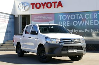 2017 Toyota Hilux TGN121R Workmate Double Cab 4x2 Glacier White 6 Speed Automatic Dual Cab.