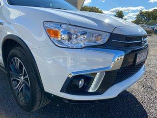 2017 Mitsubishi ASX XC MY18 LS ADAS (2WD) White Continuous Variable Wagon.