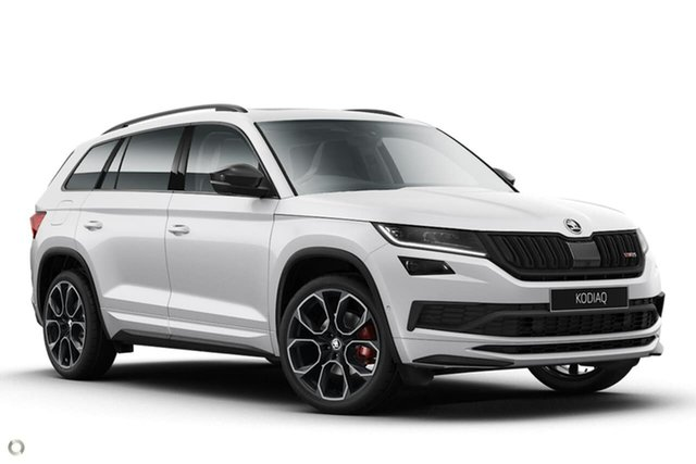 New Skoda Kodiaq NS MY21 RS DSG Seaford, 2020 Skoda Kodiaq NS MY21 RS DSG White 7 Speed Sports Automatic Dual Clutch Wagon