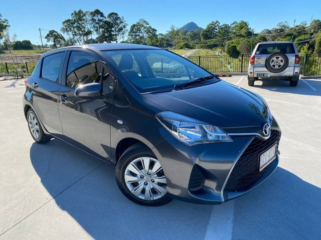 Used Toyota Yaris NCP130R Ascent Cooroy, 2015 Toyota Yaris NCP130R Ascent Grey 4 Speed Automatic Hatchback