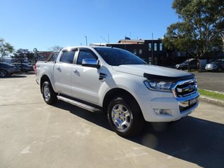 2016 Ford Ranger PX MkII XLT Double Cab Cool White 6 Speed Automatic Utility.