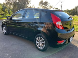 2012 Hyundai Accent RB Active Black 4 Speed Sports Automatic Hatchback.