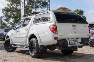2012 Mitsubishi Triton MN MY12 GLX-R Double Cab White 5 Speed Manual Utility.