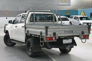 2017 Toyota Hilux GUN126R SR (4x4) Glacier White 6 Speed Manual Dual Cab Chassis.
