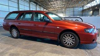 2007 Ford Falcon BF Mk II XT Orange 4 Speed Sports Automatic Wagon.