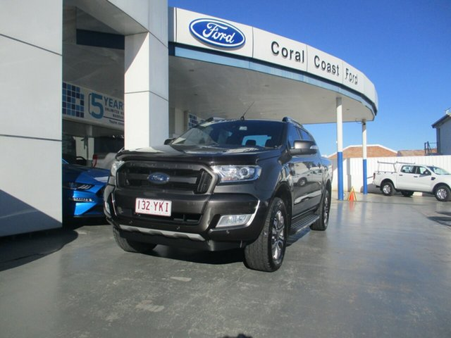 Used Ford Ranger PX MkII MY17 Wildtrak 3.2 (4x4) Bundaberg, 2017 Ford Ranger PX MkII MY17 Wildtrak 3.2 (4x4) Grey 6 Speed Automatic Dual Cab Pick-up