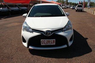 2016 Toyota Yaris NCP130R Ascent Glacier White 4 Speed Automatic Hatchback.