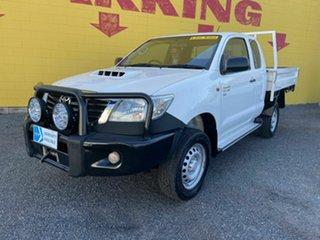 2014 Toyota Hilux KUN26R MY14 SR Xtra Cab White 5 Speed Manual Utility