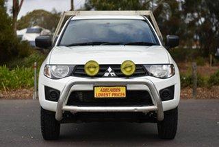 2015 Mitsubishi Triton MN MY15 GL 4x2 White 5 Speed Manual Cab Chassis.