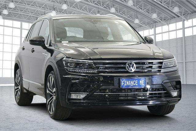 Used Volkswagen Tiguan 5N MY18 140TDI DSG 4MOTION Highline Victoria Park, 2017 Volkswagen Tiguan 5N MY18 140TDI DSG 4MOTION Highline Black 7 Speed
