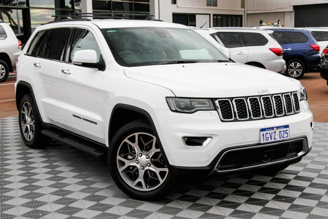 Used Jeep Grand Cherokee WK MY19 Limited Attadale, 2019 Jeep Grand Cherokee WK MY19 Limited White 8 Speed Sports Automatic Wagon