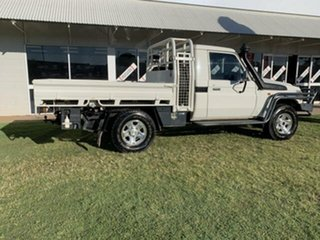 2019 Toyota Landcruiser VDJ79R GX (4x4) White 5 Speed Manual Cab Chassis.