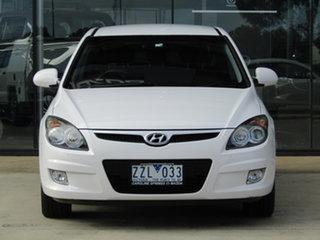 2012 Hyundai i30 FD MY11 Trophy White 5 Speed Manual Hatchback.