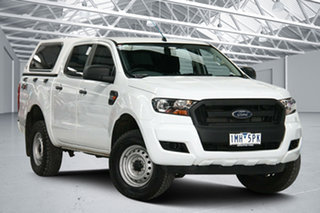 2018 Ford Ranger PX MkII MY17 Update XL 2.2 (4x4) White 6 Speed Automatic Crew Cab Utility.