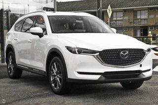 2021 Mazda CX-8 KG4W2A GT SKYACTIV-Drive i-ACTIV AWD White 6 Speed Sports Automatic Wagon.