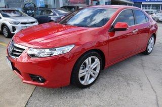2013 Honda Accord Euro CU MY13 Luxury Navi Red 5 Speed Automatic Sedan.