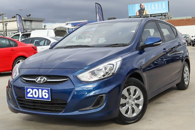Used Hyundai Accent RB4 MY17 Active Coburg North, 2016 Hyundai Accent RB4 MY17 Active Blue 6 Speed Constant Variable Hatchback