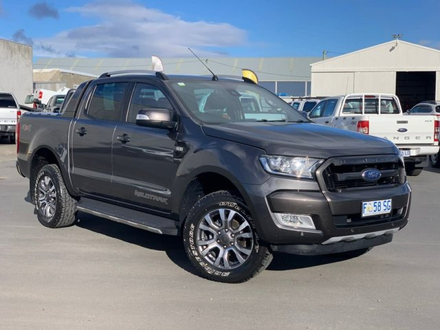 Used Ford Ranger PX MkII Wildtrak Double Cab Moonah, 2017 Ford Ranger PX MkII Wildtrak Double Cab Grey 6 Speed Sports Automatic Utility