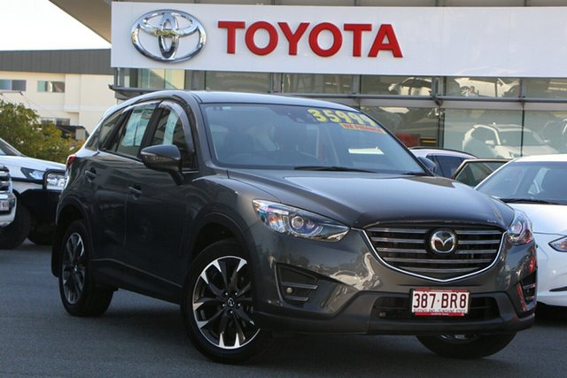Pre-Owned Mazda CX-5 KE1032 Akera SKYACTIV-Drive AWD Upper Mount Gravatt, 2016 Mazda CX-5 KE1032 Akera SKYACTIV-Drive AWD Grey 6 Speed Sports Automatic Wagon