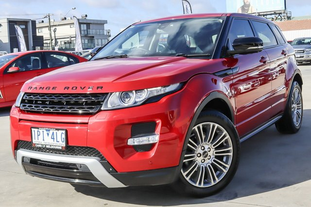 Used Land Rover Range Rover Evoque L538 MY12 Dynamic Coburg North, 2012 Land Rover Range Rover Evoque L538 MY12 Dynamic Red 6 Speed Manual Wagon