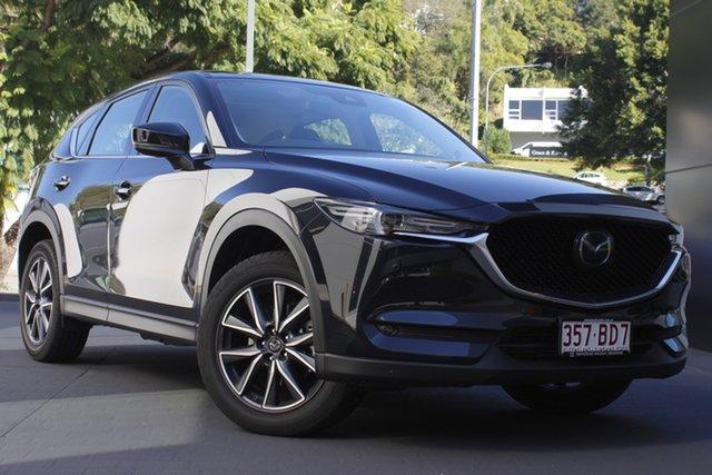 Demo Mazda CX-5 KF4WLA GT SKYACTIV-Drive i-ACTIV AWD Newstead, 2020 Mazda CX-5 KF4WLA GT SKYACTIV-Drive i-ACTIV AWD Jet Black 6 Speed Sports Automatic Wagon