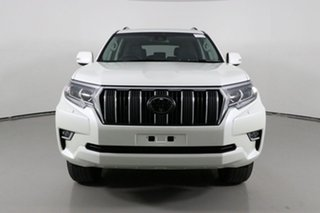 2018 Toyota Landcruiser GDJ150R MY18 Prado GXL (prem Int) (4x4) Pearl White 6 Speed Automatic Wagon.