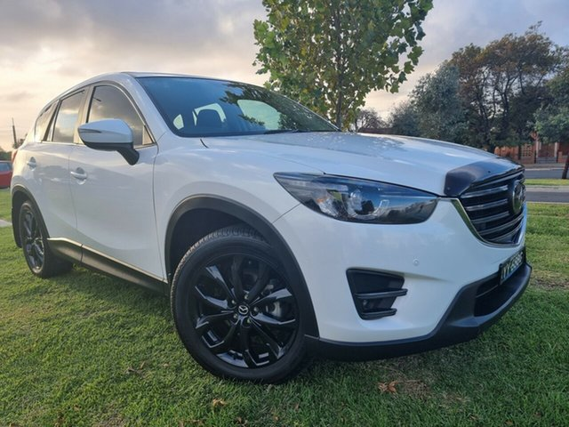 Used Mazda CX-5 KE1032 Akera SKYACTIV-Drive AWD Hindmarsh, 2016 Mazda CX-5 KE1032 Akera SKYACTIV-Drive AWD White 6 Speed Sports Automatic Wagon