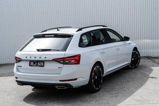 2020 Skoda Superb NP MY21 206TSI DSG SportLine White 6 Speed Sports Automatic Dual Clutch Wagon.
