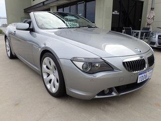 2004 BMW 645Ci E63 Dark Titanium Metallic 6 Speed Auto Steptronic Convertible.