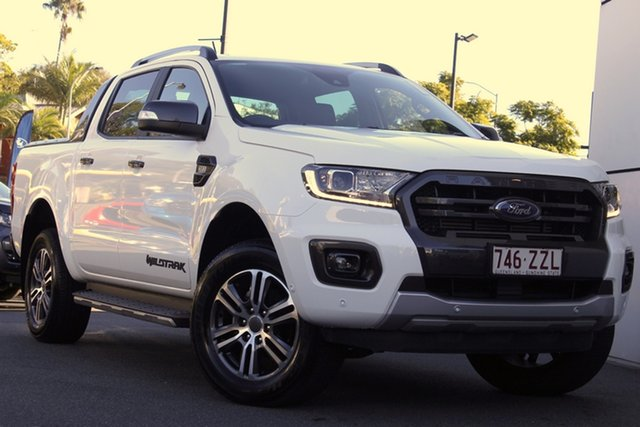 Used Ford Ranger PX MkIII 2020.25MY Wildtrak Newstead, 2020 Ford Ranger PX MkIII 2020.25MY Wildtrak White 6 Speed Sports Automatic Double Cab Pick Up