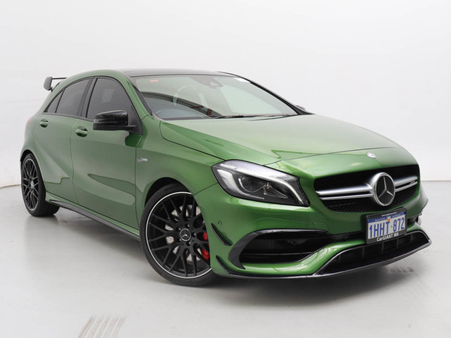 Used Mercedes-AMG A45 176 MY18 4Matic, 2017 Mercedes-AMG A45 176 MY18 4Matic Green 7 Speed Auto Dual Clutch Hatchback