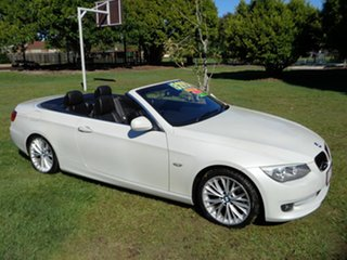 2013 BMW 3 Series E93 MY1112 320d Steptronic White 6 Speed Sports Automatic Convertible.