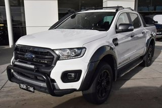 2019 Ford Ranger PX MkIII 2020.25MY Wildtrak White 10 Speed Sports Automatic Double Cab Pick Up.