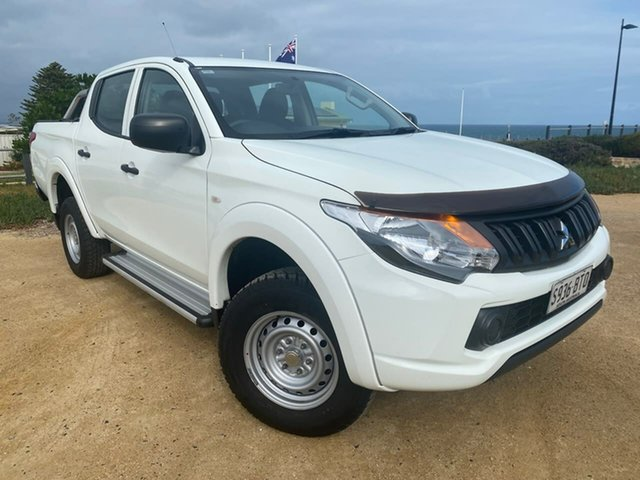 Used Mitsubishi Triton MQ MY17 GLX Double Cab Christies Beach, 2017 Mitsubishi Triton MQ MY17 GLX Double Cab White 5 Speed Sports Automatic Utility