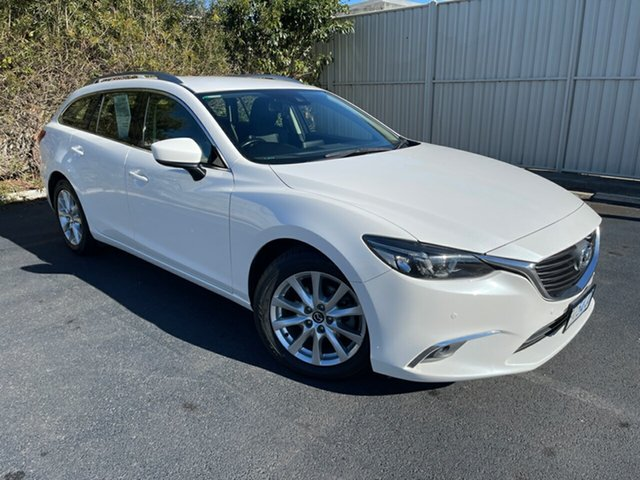 Used Mazda 6 GJ1032 Touring SKYACTIV-Drive Devonport, 2016 Mazda 6 GJ1032 Touring SKYACTIV-Drive White 6 Speed Sports Automatic Wagon