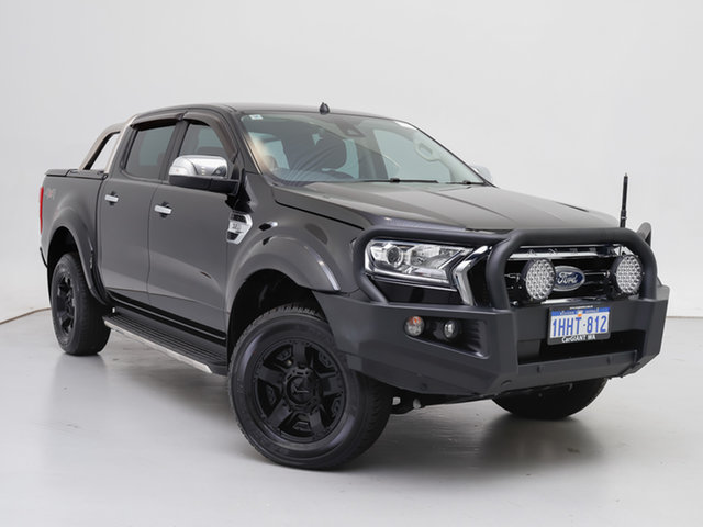 Used Ford Ranger PX MkII MY18 XLT 3.2 (4x4), 2018 Ford Ranger PX MkII MY18 XLT 3.2 (4x4) Black 6 Speed Manual Double Cab Pick Up