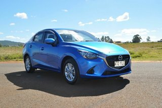 2018 Mazda 2 DL MY17 Maxx Blue 6 Speed Automatic Sedan.